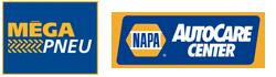 Logo Méga Pneu et NAPA Autocare Center